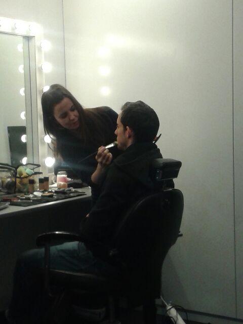 Renaud Lavillenie au maquillage