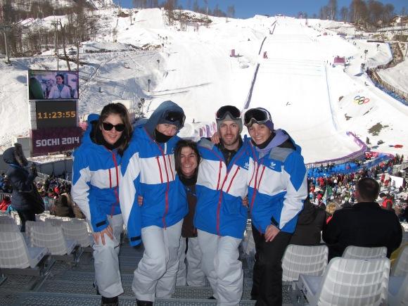 L'équipe de france de Snowboard half-pipe