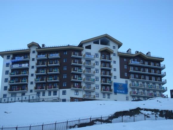 Un des bâtiments du village olympique