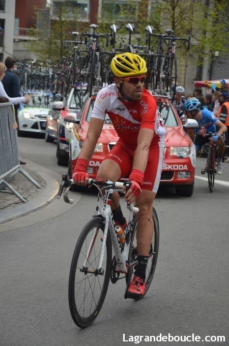 Cyril Lemoine, premier français de l'étape du jour