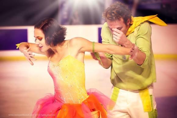 Nathalie Péchalat et Fabian Bourzat pendant leur carrière de patineurs CP/ Nathalie Péchalat