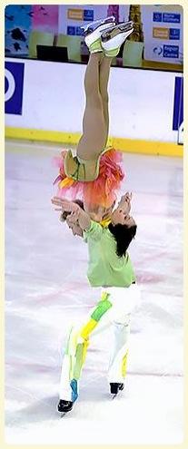 Nathalie Péchalat et son partenaire pendant 14 ans sur la glace, Fabian Bourzat CP/ Nathalie Péchalat