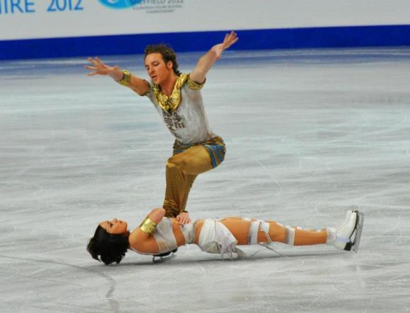 Nathalie Péchalat et Fabian Bourzat se démarquaient sur la glace par leur originalité CP/ Nathalie Péchalat