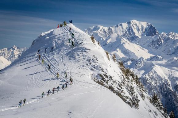 Pierra Ment, J1. Sous le regard du Mont-Blanc en arrière-plan. Crédit Photo/Jocelyn Chavy