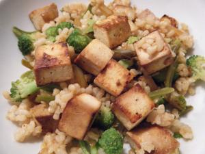 Tofu, riz et légumes en guise de déjeuner pour Laetitia Roux après avoir terminé la première journée de compétition Crédit Photo/littlemisspharmacist